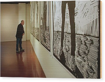 Wood Print featuring the photograph Gallery Lines by Nikolyn McDonald