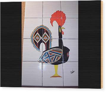 Galo De Barcelos Wood Print by Hilda and Jose Garrancho