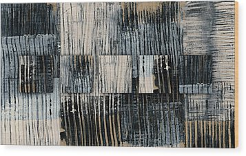 Wood Print featuring the mixed media Galvanized Paint Number 1 Horizontal by Carol Leigh