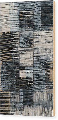 Wood Print featuring the photograph Galvanized Paint Number 1 Vertical by Carol Leigh