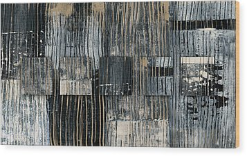 Wood Print featuring the photograph Galvanized Paint Number 2 Horizontal by Carol Leigh