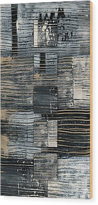 Wood Print featuring the photograph Galvanized Paint Number 2 Vertical by Carol Leigh