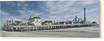 Galveston Pleasure Pier Wood Print by Allen Sheffield