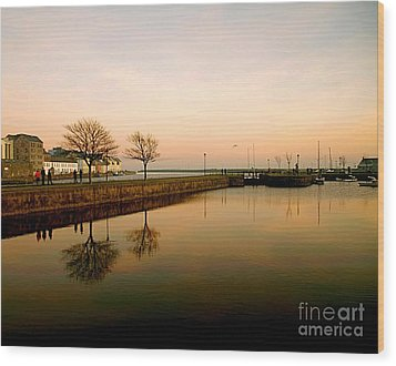 Galway Bay Sunset Wood Print