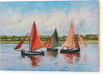 Galway Hookers Wood Print