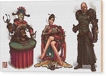 Gambling Den Concept Wood Print by James Ng