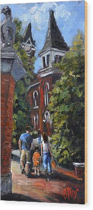 Game Day At Auburn Wood Print by Carole Foret