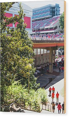 Wood Print featuring the photograph Game Day In Athens by Parker Cunningham