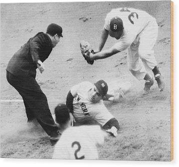 Game Four Of The 1949 World Series Wood Print by Everett