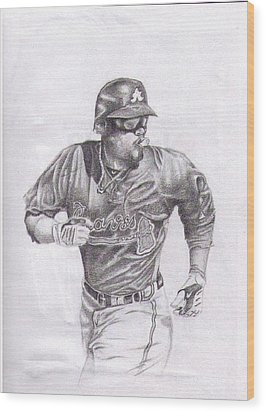 Game In Motion Wood Print by Garrett Wright