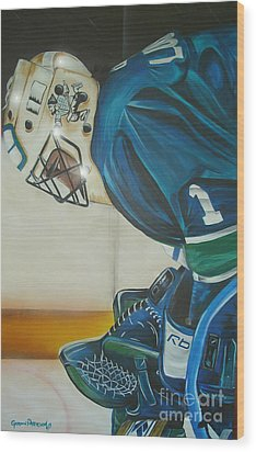 Game On Wood Print by Gordon Paterson