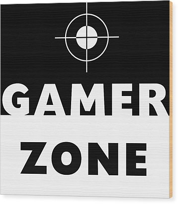 Wood Print featuring the mixed media Gamer Zone- Art By Linda Woods by Linda Woods