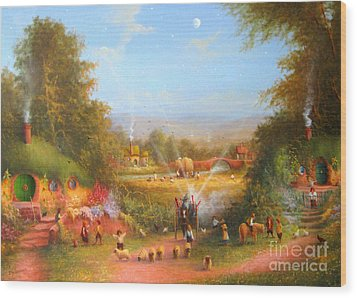 Gandalf's Return Fireworks In The Shire. Wood Print by Joe  Gilronan