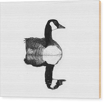 Gander Wood Print