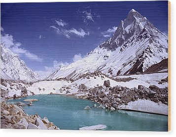 Gandharva Tal And Mount Shivaling Wood Print by Sam Oppenheim