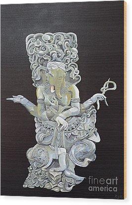 Ganesh The Elephant God Wood Print by Eric Kempson