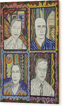 Gang Of Four Wood Print by Robert SORENSEN
