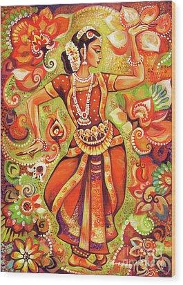 Ganges Flower Wood Print