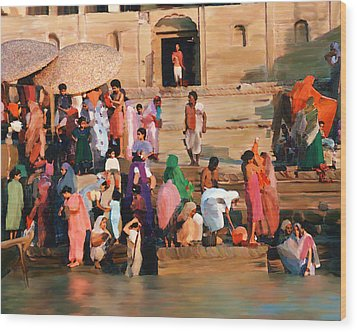 Ganges Wood Print by Kurt Van Wagner