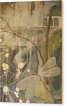 Wood Print featuring the painting Ganth IIi by Jackie Mueller-Jones