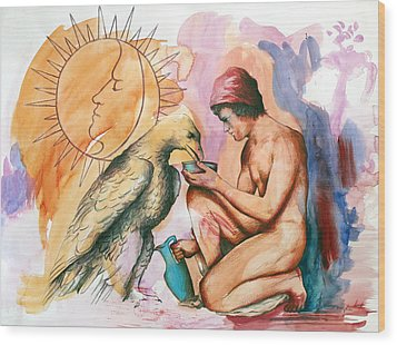 Ganymede And Zeus Wood Print