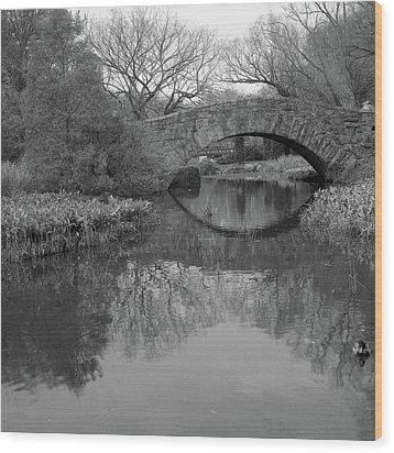 Gapstow Bridge - Central Park - New York City Wood Print by Holden Richards