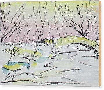 Gapstow In Winter Wood Print by Chris Coyne