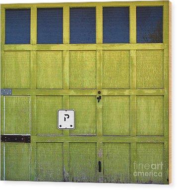 Garage Door Wood Print