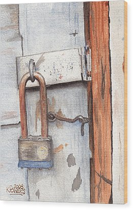 Garage Lock Number One Wood Print by Ken Powers