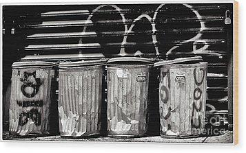 Garbage Wood Print by Madeline Ellis