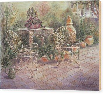Garden At Linwood  Wood Print