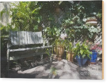 Garden Bench Wood Print by Sheila Smart Fine Art Photography
