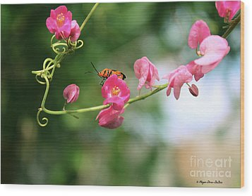 Wood Print featuring the photograph Garden Bug by Megan Dirsa-DuBois