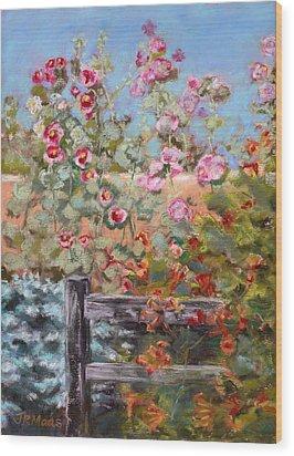 Garden Companion Wood Print by Julie Maas