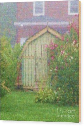 Garden Daybreak Wood Print by Christine Belt