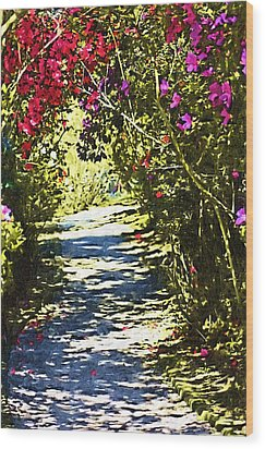 Wood Print featuring the photograph Garden by Donna Bentley