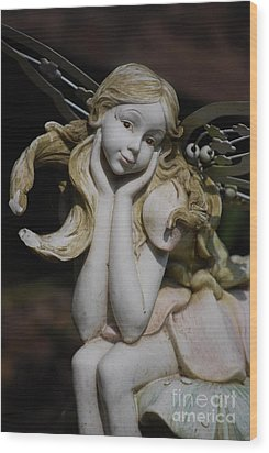 Wood Print featuring the photograph Garden Fairy by Lila Fisher-Wenzel