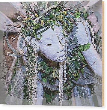 Garden Fairy Wood Print