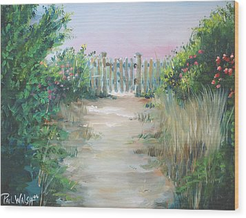 Garden Fence Wood Print by Paul Walsh