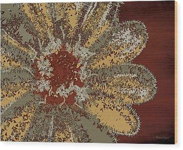 Wood Print featuring the digital art Garden Flower by Milena Ilieva