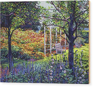 Garden For Dreaming Wood Print by David Lloyd Glover