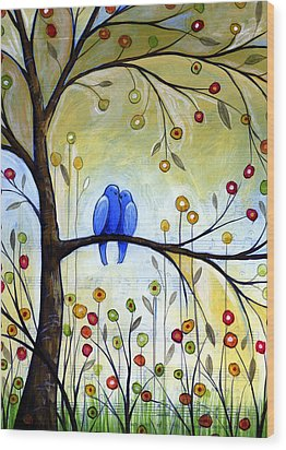 Garden For Two Wood Print by Amy Giacomelli