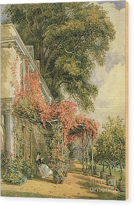 Garden Front Of Mr Robert Vernon's House At Twickenham Wood Print by John James Chalon