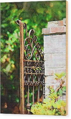 Wood Print featuring the photograph Garden Gate by Donna Bentley