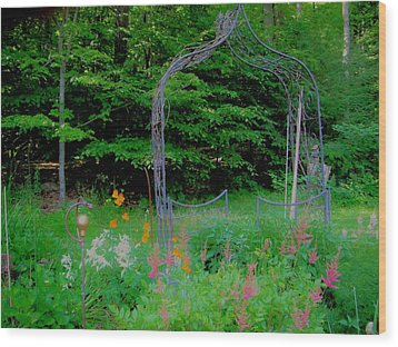 Wood Print featuring the photograph Garden Gate by Susan Carella