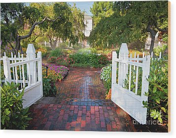 Wood Print featuring the photograph Garden Gate by Susan Cole Kelly