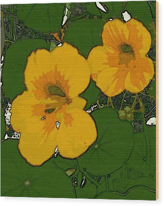 Garden Love Wood Print by Winsome Gunning