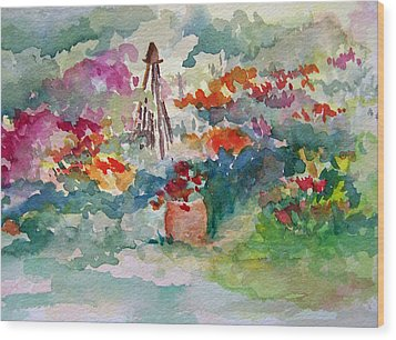 Garden Memories Wood Print by Sandy Collier