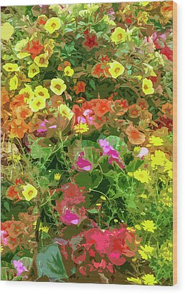 Garden Of Color Wood Print by Josy Cue