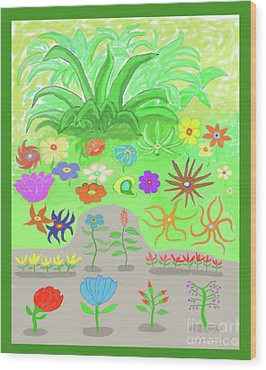 Garden Of Memories Wood Print by Fred Jinkins